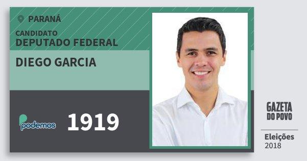 Santinho Diego Garcia 1919 (PODE) Deputado Federal | Paraná | Eleições 2018