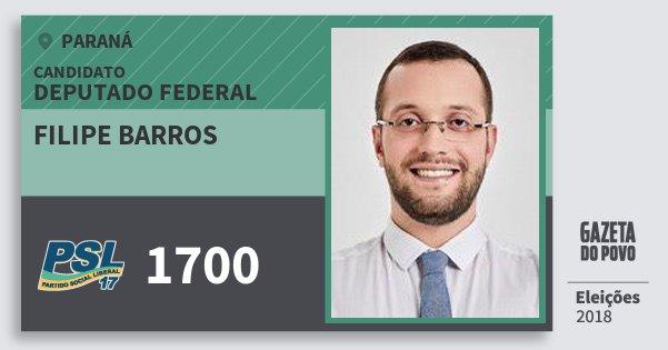 Santinho Filipe Barros 1700 (PSL) Deputado Federal | Paraná | Eleições 2018