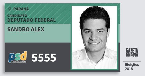 Santinho Sandro Alex 5555 (PSD) Deputado Federal   Paraná   Eleições 2018