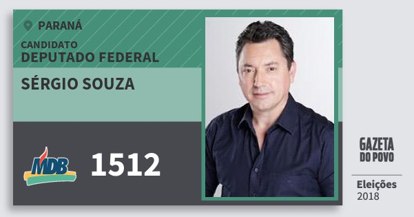 Santinho Sérgio Souza 1512 (MDB) Deputado Federal | Paraná | Eleições 2018