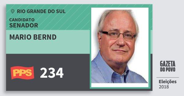 Santinho Mario Bernd 234 (PPS) Senador | Rio Grande do Sul | Eleições 2018