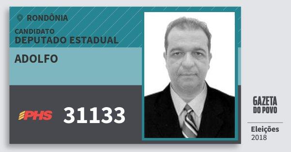 Santinho Adolfo 31133 (PHS) Deputado Estadual | Rondônia | Eleições 2018