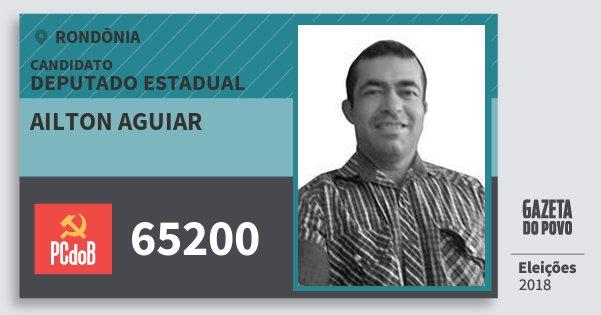 Santinho Ailton Aguiar 65200 (PC do B) Deputado Estadual | Rondônia | Eleições 2018