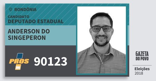 Santinho Anderson do Singeperon 90123 (PROS) Deputado Estadual   Rondônia   Eleições 2018