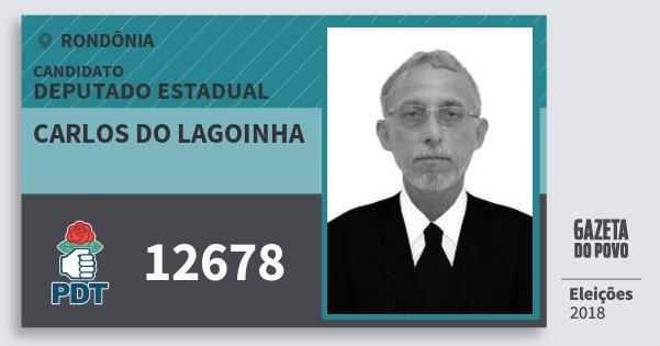 Santinho Carlos do Lagoinha 12678 (PDT) Deputado Estadual | Rondônia | Eleições 2018