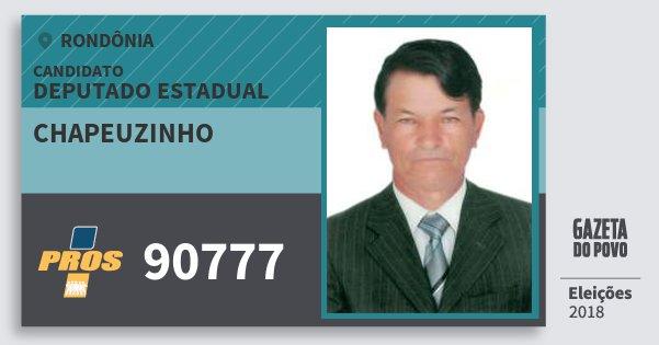 Santinho Chapeuzinho 90777 (PROS) Deputado Estadual | Rondônia | Eleições 2018