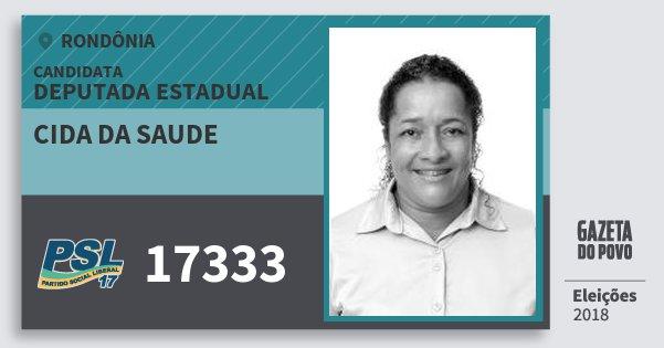 Santinho Cida da Saude 17333 (PSL) Deputado Estadual | Rondônia | Eleições 2018