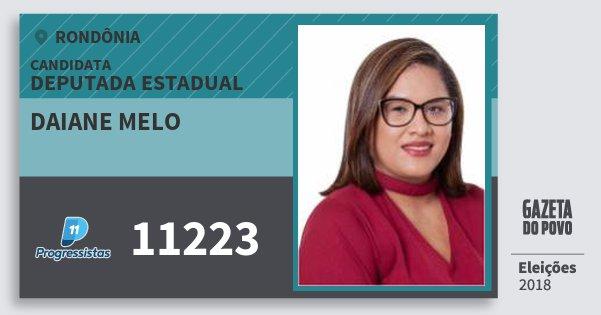 Santinho Daiane Melo 11223 (PP) Deputado Estadual   Rondônia   Eleições 2018