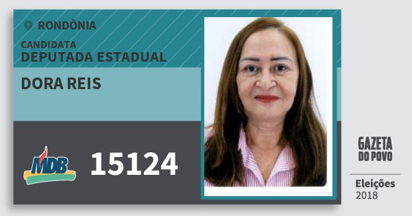 Santinho Dora Reis 15124 (MDB) Deputado Estadual | Rondônia | Eleições 2018