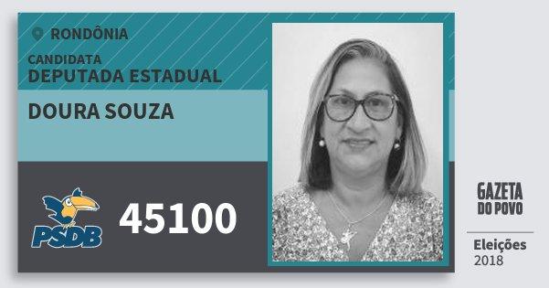 Santinho Doura Souza 45100 (PSDB) Deputado Estadual | Rondônia | Eleições 2018