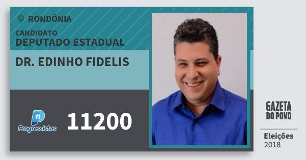 Santinho Dr. Edinho Fidelis 11200 (PP) Deputado Estadual | Rondônia | Eleições 2018