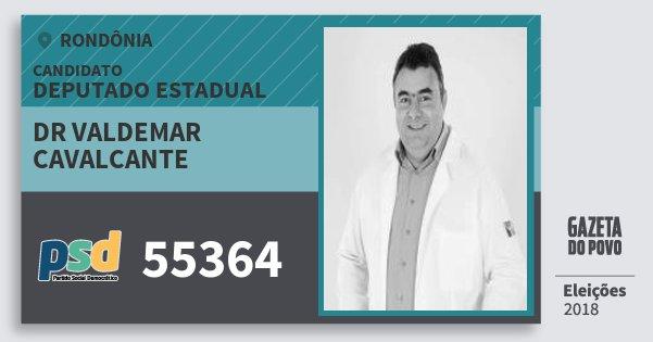 Santinho Dr Valdemar Cavalcante 55364 (PSD) Deputado Estadual | Rondônia | Eleições 2018
