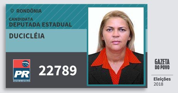 Santinho Ducicléia 22789 (PR) Deputado Estadual | Rondônia | Eleições 2018