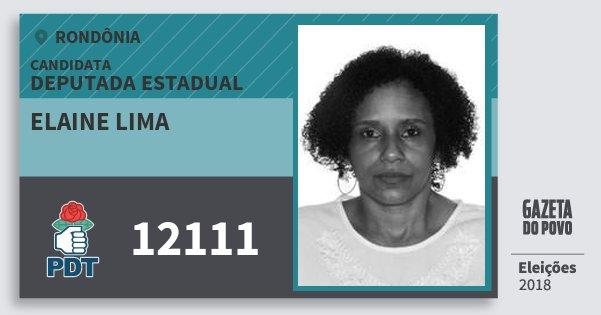 Santinho Elaine Lima 12111 (PDT) Deputado Estadual | Rondônia | Eleições 2018