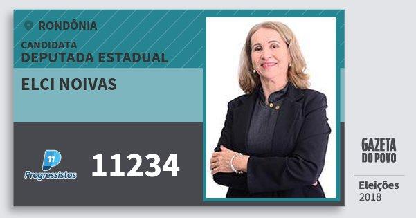 Santinho Elci Noivas 11234 (PP) Deputado Estadual | Rondônia | Eleições 2018