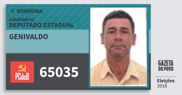 Santinho Genivaldo 65035 (PC do B) Deputado Estadual   Rondônia   Eleições 2018