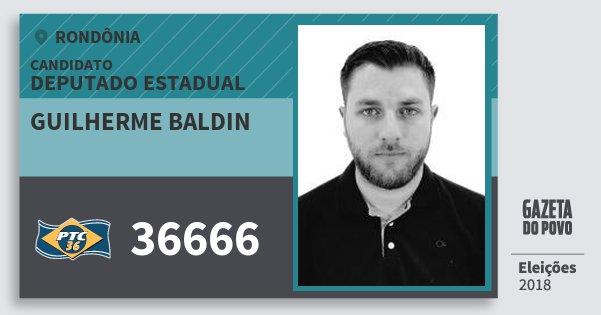 Santinho Guilherme Baldin 36666 (PTC) Deputado Estadual | Rondônia | Eleições 2018