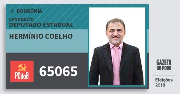 Santinho Hermínio Coelho 65065 (PC do B) Deputado Estadual | Rondônia | Eleições 2018