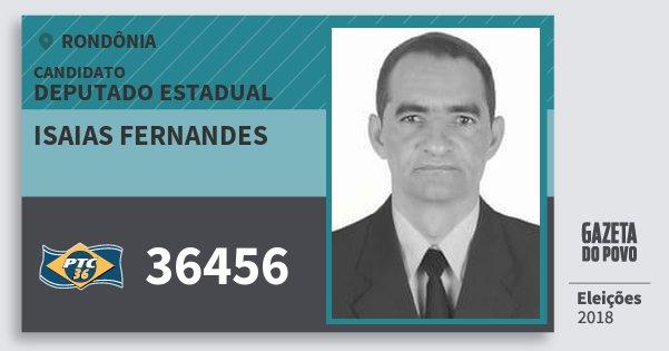 Santinho Isaias Fernandes 36456 (PTC) Deputado Estadual   Rondônia   Eleições 2018