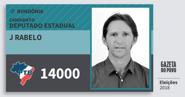 Santinho J Rabelo 14000 (PTB) Deputado Estadual | Rondônia | Eleições 2018