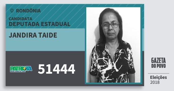 Santinho Jandira Taide 51444 (PATRI) Deputado Estadual   Rondônia   Eleições 2018