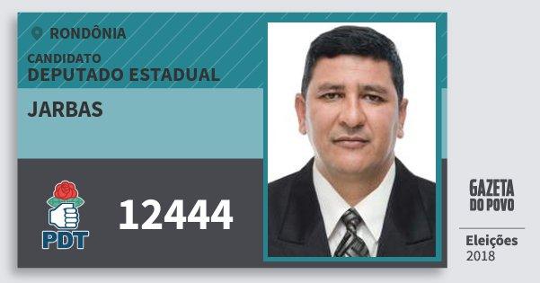 Santinho Jarbas 12444 (PDT) Deputado Estadual | Rondônia | Eleições 2018