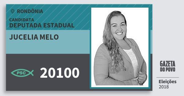 Santinho Jucelia Melo 20100 (PSC) Deputado Estadual   Rondônia   Eleições 2018