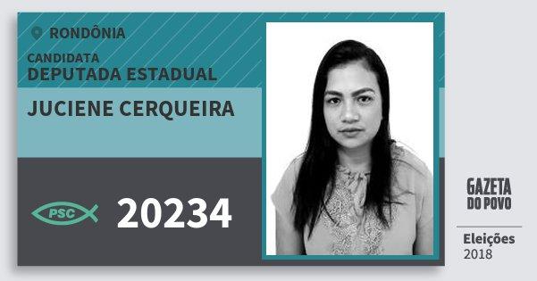 Santinho Juciene Cerqueira 20234 (PSC) Deputado Estadual | Rondônia | Eleições 2018