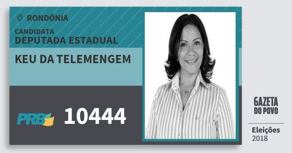 Santinho Keu da Telemengem 10444 (PRB) Deputado Estadual | Rondônia | Eleições 2018