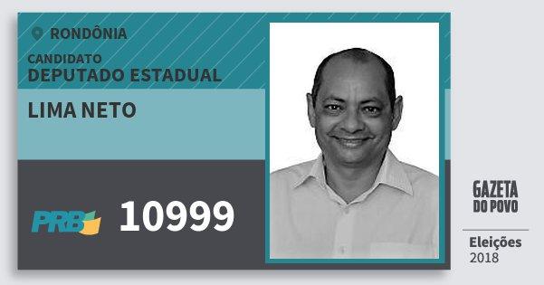 Santinho Lima Neto 10999 (PRB) Deputado Estadual | Rondônia | Eleições 2018