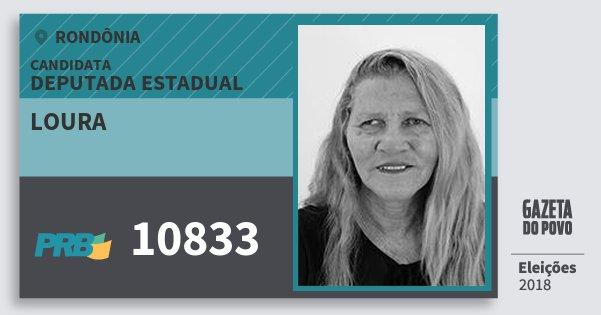 Santinho Loura 10833 (PRB) Deputado Estadual | Rondônia | Eleições 2018