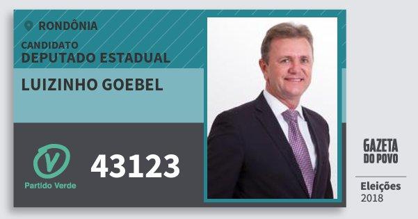 Santinho Luizinho Goebel 43123 (PV) Deputado Estadual | Rondônia | Eleições 2018