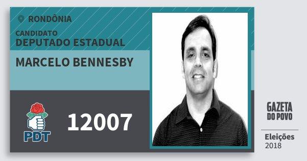 Santinho Marcelo Bennesby 12007 (PDT) Deputado Estadual | Rondônia | Eleições 2018