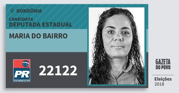 Santinho Maria do Bairro 22122 (PR) Deputado Estadual | Rondônia | Eleições 2018