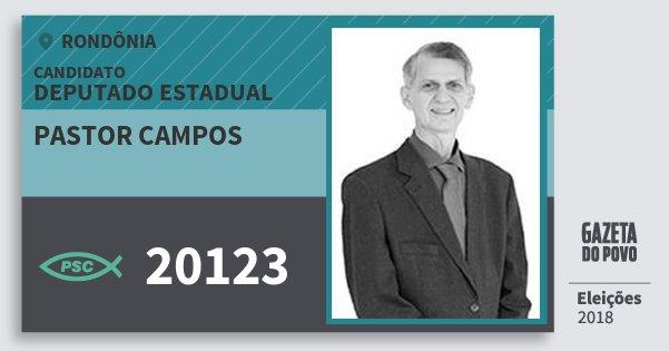 Santinho Pastor Campos 20123 (PSC) Deputado Estadual   Rondônia   Eleições 2018