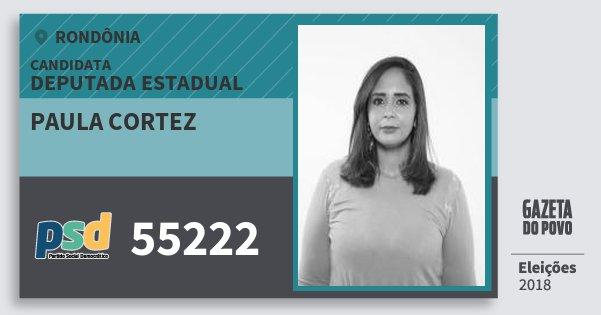 Santinho Paula Cortez 55222 (PSD) Deputado Estadual   Rondônia   Eleições 2018