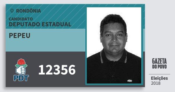 Santinho Pepeu 12356 (PDT) Deputado Estadual   Rondônia   Eleições 2018