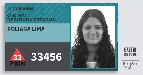 Santinho Poliana Lima 33456 (PMN) Deputado Estadual   Rondônia   Eleições 2018