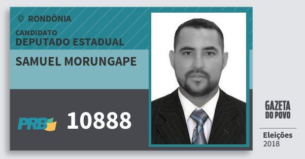 Santinho Samuel Morungape 10888 (PRB) Deputado Estadual | Rondônia | Eleições 2018