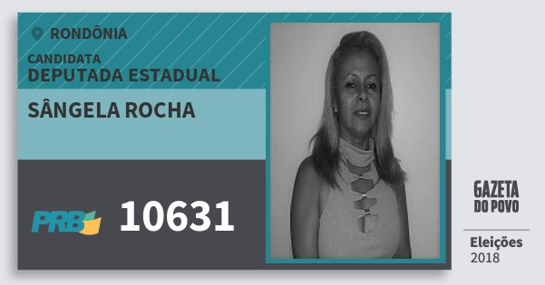 Santinho Sângela Rocha 10631 (PRB) Deputado Estadual   Rondônia   Eleições 2018