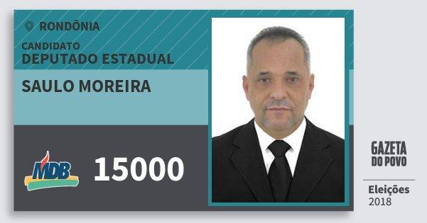 Santinho Saulo Moreira 15000 (MDB) Deputado Estadual | Rondônia | Eleições 2018
