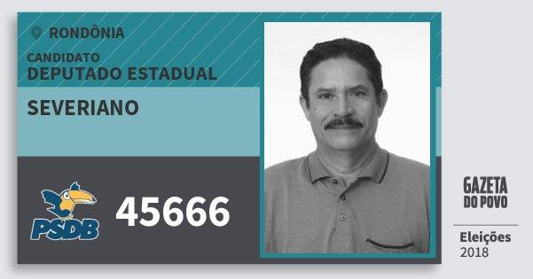 Santinho Severiano 45666 (PSDB) Deputado Estadual   Rondônia   Eleições 2018
