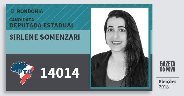 Santinho Sirlene Somenzari 14014 (PTB) Deputado Estadual | Rondônia | Eleições 2018