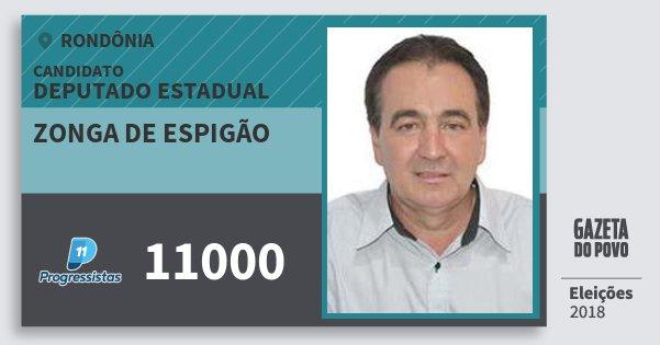 Santinho Zonga de Espigão 11000 (PP) Deputado Estadual | Rondônia | Eleições 2018