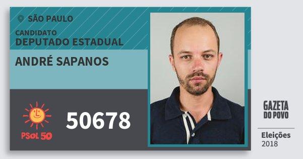 Resultado de imagem para André Sapanos (PSol)