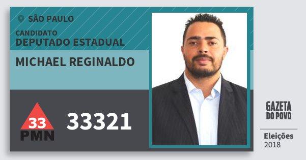 Resultado de imagem para Michael Reginaldo (PMN)
