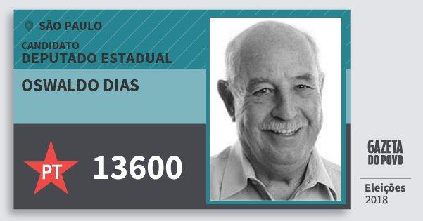 Resultado de imagem para Oswaldo Dias (PT)