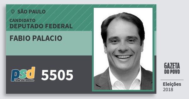 Santinho Fabio Palacio 5505 (PSD) Deputado Federal | São Paulo | Eleições 2018