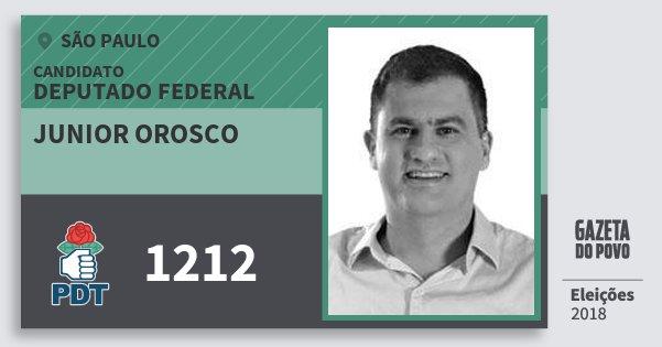 Resultado de imagem para Junior Orosco (PDT)