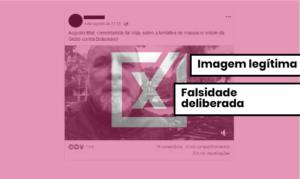Vídeo de apoio a Bolsonaro não é de diretor da revista Veja